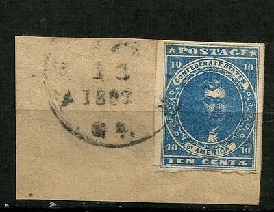 CSA #2 Paterson used on piece KINGSTON GA xxx 13 1863 nice!