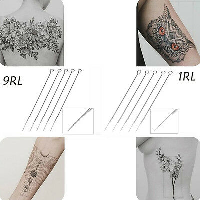 50/100pcs Disposable 1RL Round Liner Sterile Tattoo Needles Ink Machine Supplies