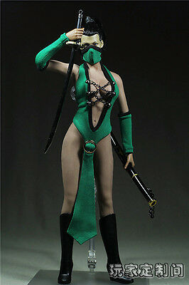 """1/6 Scale Customize Clothing For 12"""" Phicen Female Large Bust Figure Kunoichi"""