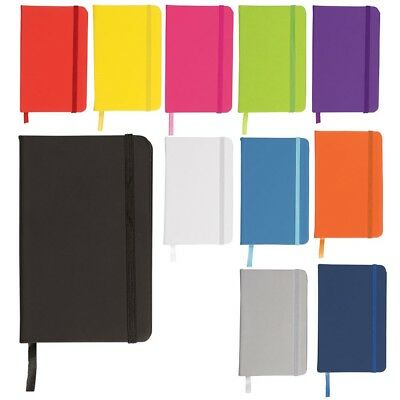 Moleskine Style Luxury Lined Ruled Hardback Notebook A6 A5 A4 - Various Colours