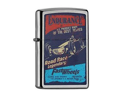 "Zippo ""endurance Race Car"" Brushed Chrome Color Lighter / 60002158 * New *"