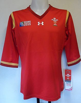 Wales Rwc 2015 Rugby Home Jersey By  Under Armour Size Ladies Xl Brand New