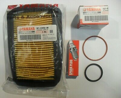 YAMAHA WR125R / WR125X WR 125 SERVICE KIT with GENUINE YAMAHA OIL & AIR FILTER