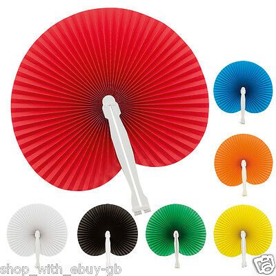 Paper Hand Fan Folding Wedding Party Favour Decoration Colour Chinese Wedding UK