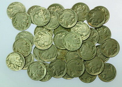 Mixed $2 Roll Of Dated US Mint Buffalo Nickel Coins