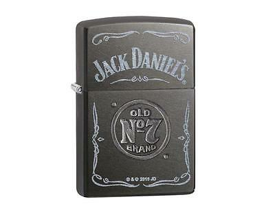 """Zippo """"jack Daniels Stamped"""" Gray Dusk Color Lighter / 60002303 ** New In Box **"""