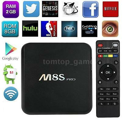 M8S Pro RK3368 Smart TV BOX Android 5.1 Octa Core 4K Media Player M8C6