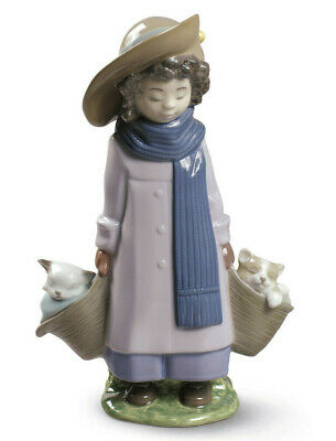 Nao By Lladro Don't Wake Us Up Brand New In Box #1885 Girl With Cats Save$$ F/sh