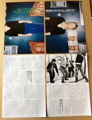1999 Sonic Youth Kim Gordon 6pg 3 photo JAPAN mag article / press clipping s01r