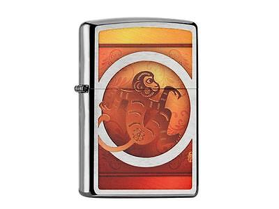 "ZIPPO ""YEAR OF THE MONKEY"" BRUSHED CHROME COLOR LIGHTER ** NEW in BOX **"