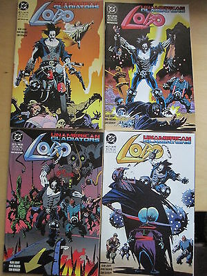 LOBO : UNAMERICAN GLADIATORS : COMPLETE 4 ISSUE SERIES by WAGNER & GRANT.DC.1993