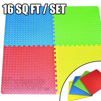 XL Foam Interlocking Floor Mats Childrens Kids Flooring Play Puzzle Gym Exercise