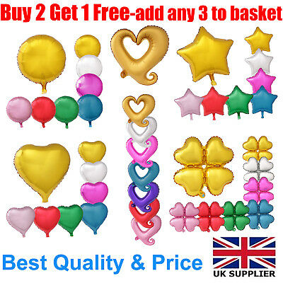"18"" Round Heart Star FashionHeart Helium Foil Balloon For Birthday Wedding Party"