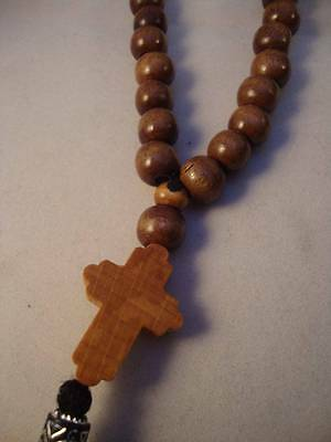 33 Bead Orthodox Christian Wooden beaded Prayer Rope Chotki Komboskini