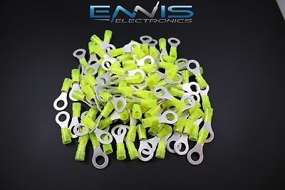 10-12 Gauge 50 Pk Nylon Ring 5/16 Connector Crimp Terminal Wire Car Home