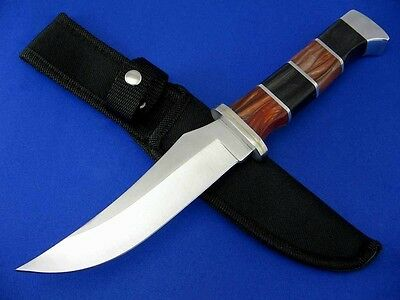 Brown Pearl Pakkawood Handle Fixed Blade Hunting Knife