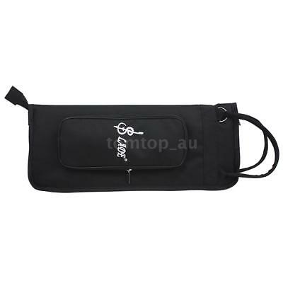 LADE Thicken Padded Drum Stick Bag Case WaterResistant Oxford Durable Black Z0B3