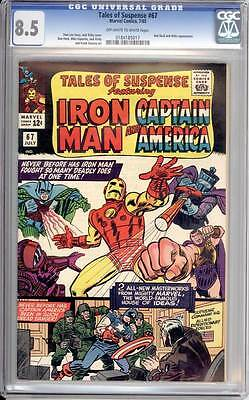 Tales of Suspense # 67 So Many Deadly Foes at one time !  CGC 8.5  scarce book !