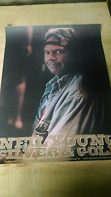 "Neil Young ""Silver & Gold"" GREAT LOOKING PROMO ONLY POSTER !! 18 x 24"