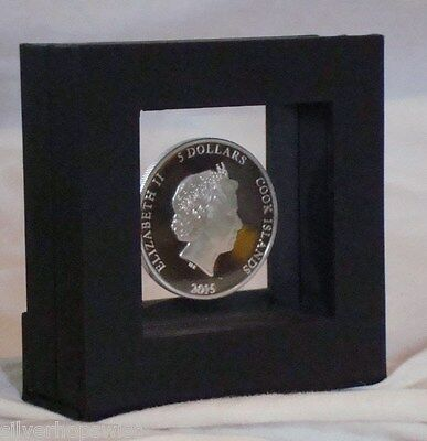 """3-D Suspension See-Thru Coin or Jewelry Display Box 11.5x3.5/""""  coin set display"""
