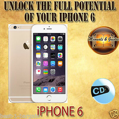 APPLE iPHONE 6 USER GUIDE INSTRUCTION MANUAL / VIDEO TUTORIAL & TIPS iOS ON CD
