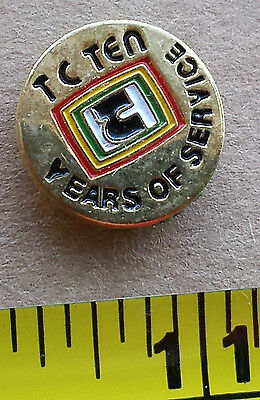 TC (TELECABLE) TEN YEARS OF SERVICE - Metal Lapel Pin