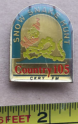 CKRY FM Country 105, SNOW SNAKE HUNT - Metal Lapel Pin