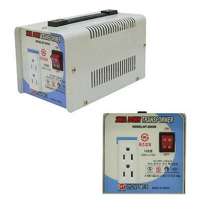 220V to 110V Step Down Voltage Converter BrakerTransformer Max Power 2000VA/2KVA