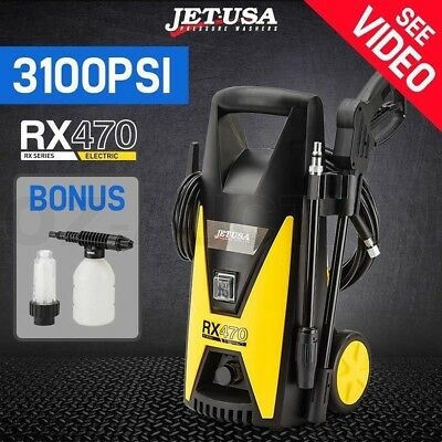 Jet-USA 3100 PSI High Pressure Washer Cleaner Water Gurney Pump Hose Electric