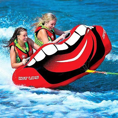 Wow Hot Lips 2 Person Towable Ski Tube Inflatable Biscuit Boat Ride