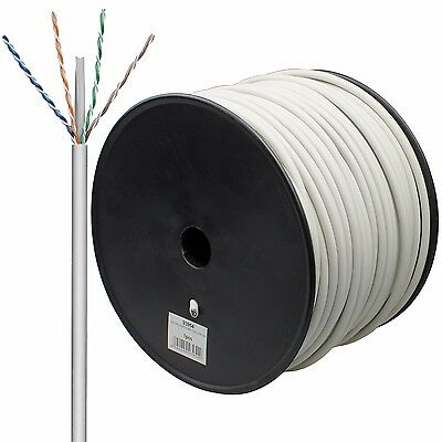100m CAT 6 Patchkabel flexible Adern S-FTP AWG27/7 zum crimpen RJ45 Stecker NEU