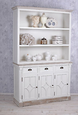 Grosser Bücherschrank Shabby Chic Regal Weiss Bücherregal Vintage