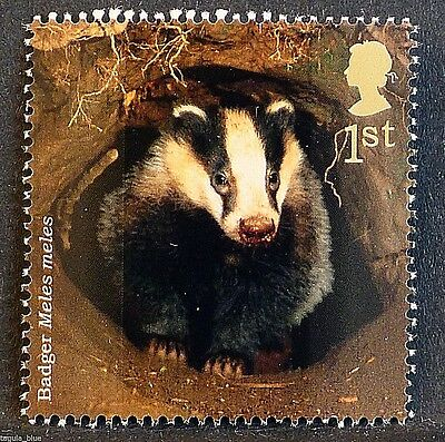 """""""Badger"""" (Meles meles) on 2004 stamp - Unmounted mint"""