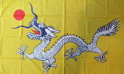 CHINA DRAGON FLAG 5' x 3' Imperial Chinese Dynasty Empire