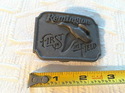 Vintage 1980 **remington** First In The Field Canada Goose Belt Buckle