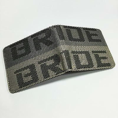 BRIDE WALLET for Drift Race Track car boys mens Gift Grey Yellow