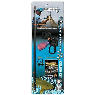 New AMS Bowfishing Retriever Pro Combo Kit RH w/ Arrows Chaos Points 610-CMB-RH