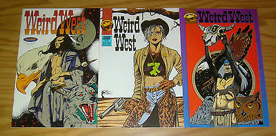 Weird West #1-3 VF complete series - fantaco comics - native american - simonton