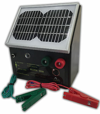 NEW 3km SOLAR Powered Electric Fence ENERGISER Charger Thunderbird Eclipse3 Farm