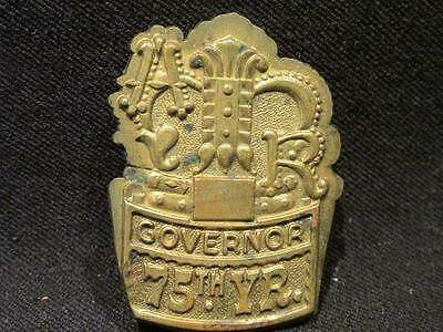 AR Governor 75th Year Small Copper Medallion with Crown