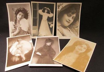 Evie Greene, Lily Elsie, Maude Fealy & more 6 Early 1900s Actress Postcards