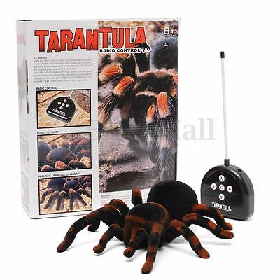 Remote Control 11'' 4CH Realistic RC Spider Scary Toy Prank Holiday Gift Model