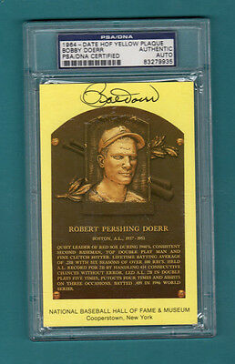 Bobby Doerr - Hall of Fame Plaque Card - PSA/DNA Authentic Autograph