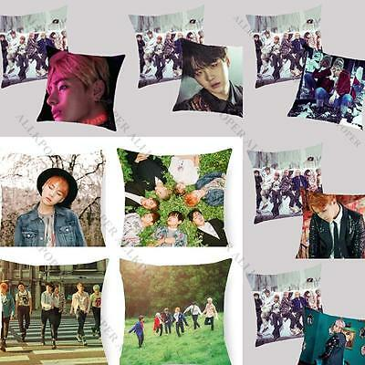 KPOP BTS Wings Pillow Case Bangtan Boys In Bloom Cushion Covers Square J-Hope V