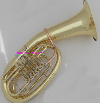 Professional Gold Euphonium 4 rotary valves Cupronickel TUBA Horn New with Case