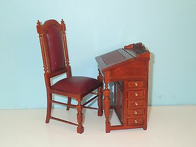 "1/6 th scale desk and chair 12"" to 14"" doll highend quality JBM"