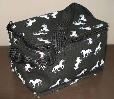 Lunch Bag - Thermal Black Horse Print