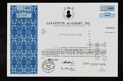 Lafayette Academy Inc Charlottesville VA ( US Learning Centers ) dd 1972