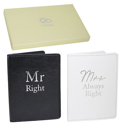 Wedding Gift Set - Passport Covers - Mr Right & Mrs Always Right