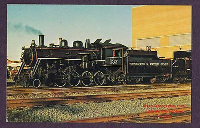 LMH Postcard TEMISKAMING NORTHERN ONTARIO 2-8-0 Consolidation ONT #137 Northland